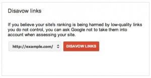 SEO Disavow Links
