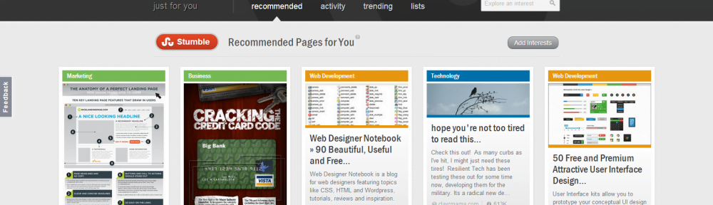 StumbleUpon Gets a Fresh New Look